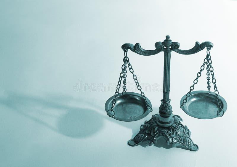 Skalen von Gerechtigkeit stockfotografie