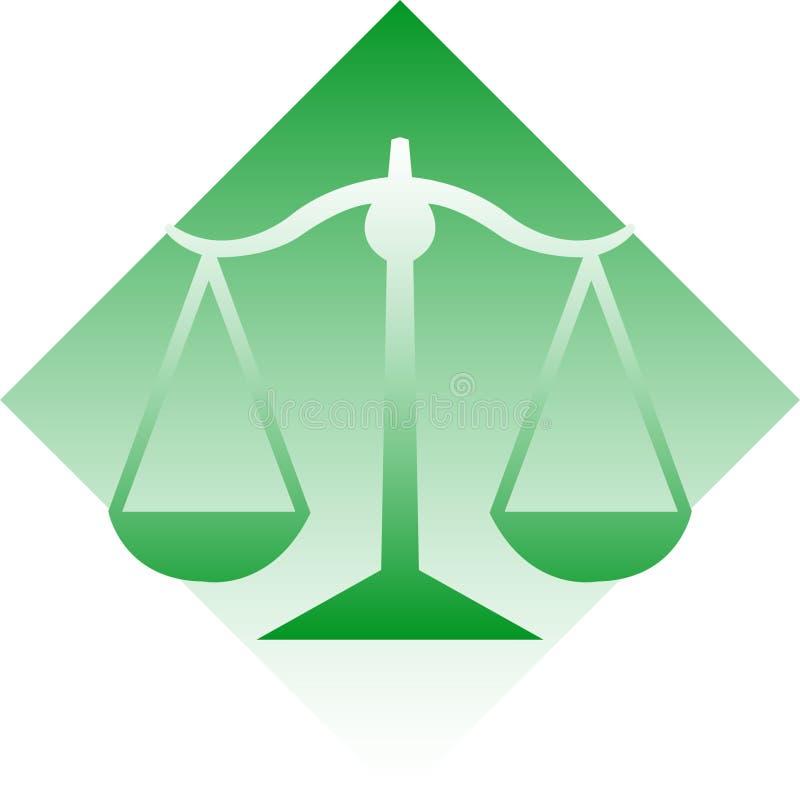 Skalen von Gerechtigkeit/ENV lizenzfreie abbildung