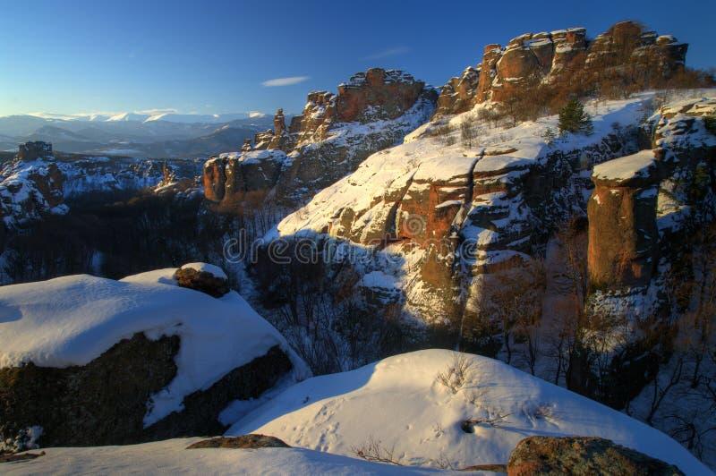 Skali de BElogradchishki no inverno foto de stock