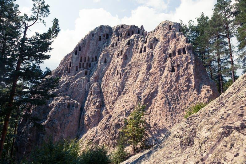 Skali de Orlovi/formación de roca de Eagle en la montaña de Rodopi fotos de archivo libres de regalías