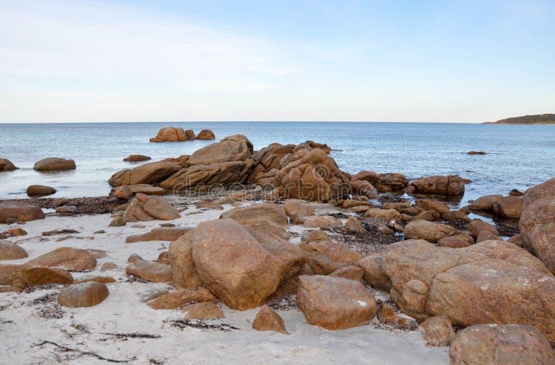 Skalista bunkier zatoka: Zachodnia Australia fotografia royalty free