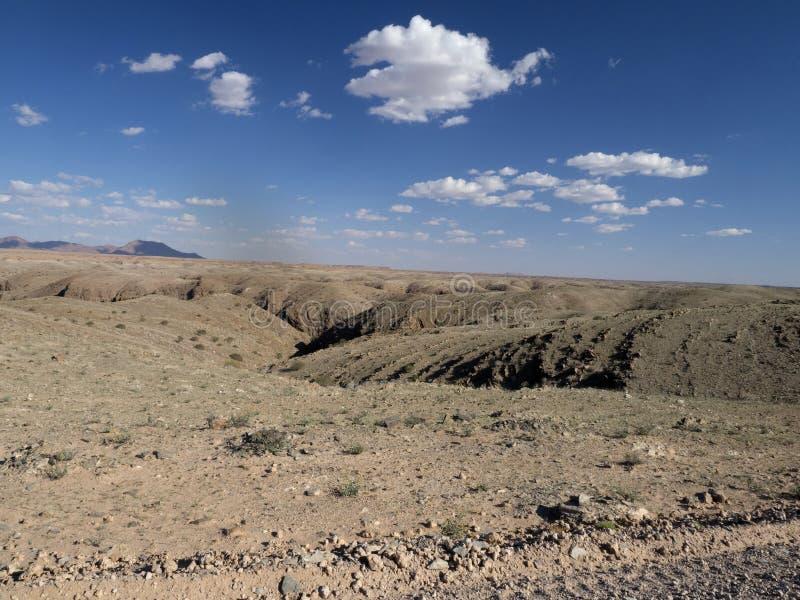 Skalista dolina w środkowym Namibia fotografia royalty free