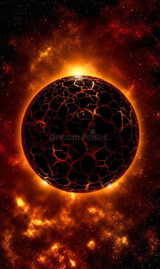 Skalista pożarnicza planety wiszącej ozdoby tapeta
