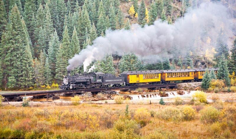 Skalistej góry pociągu przygoda obrazy royalty free