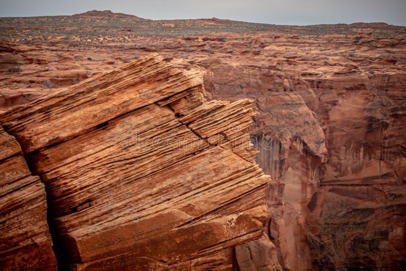 Skalisty krajobraz przy podkowa chy?em w Arizona obraz stock