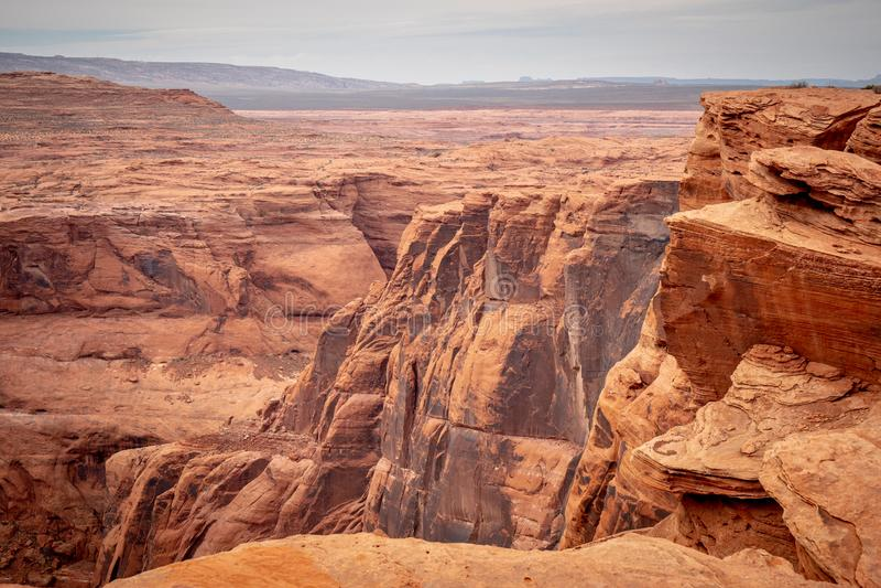 Skalisty krajobraz przy podkowa chy?em w Arizona obraz royalty free