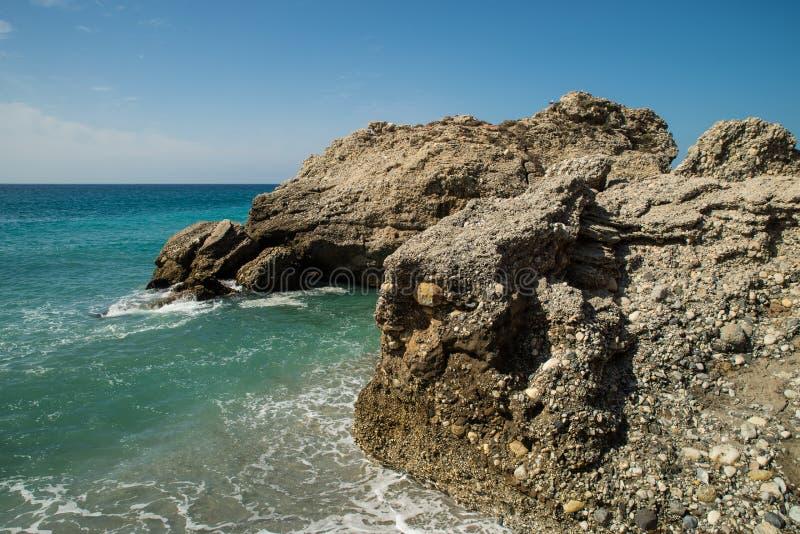 Skalisty Malaga wybrzeże obrazy stock