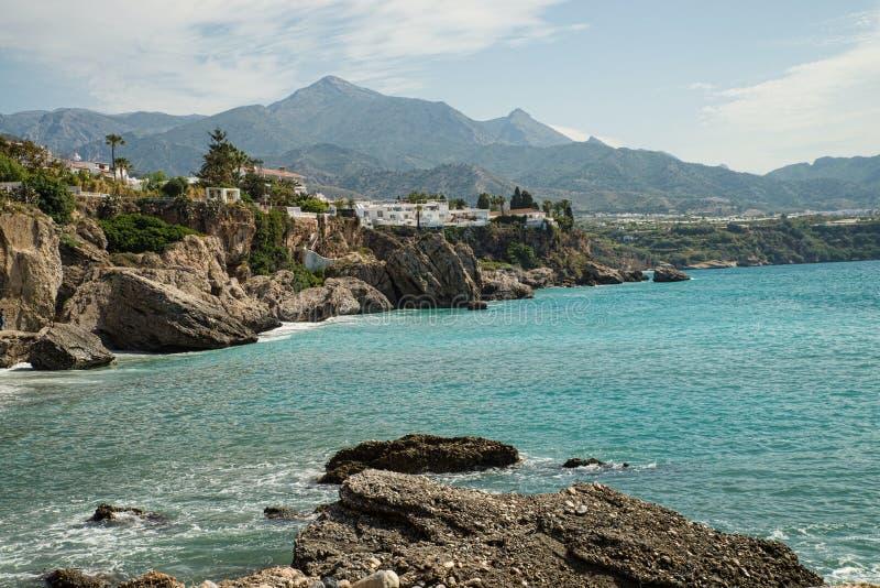 Skalisty Malaga wybrzeże obraz royalty free