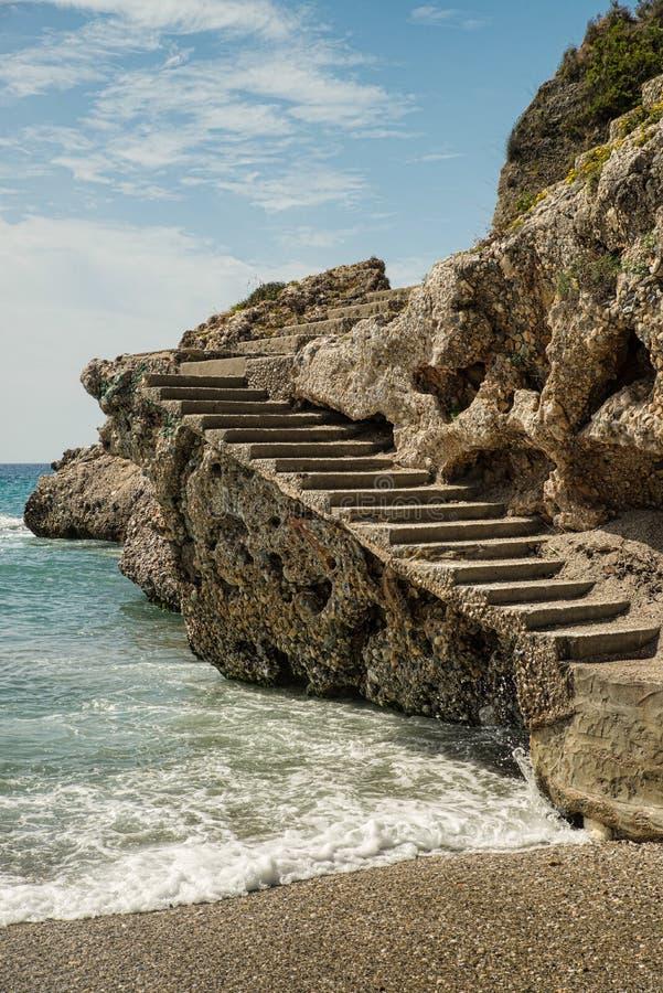 Skalisty Malaga wybrzeże fotografia royalty free