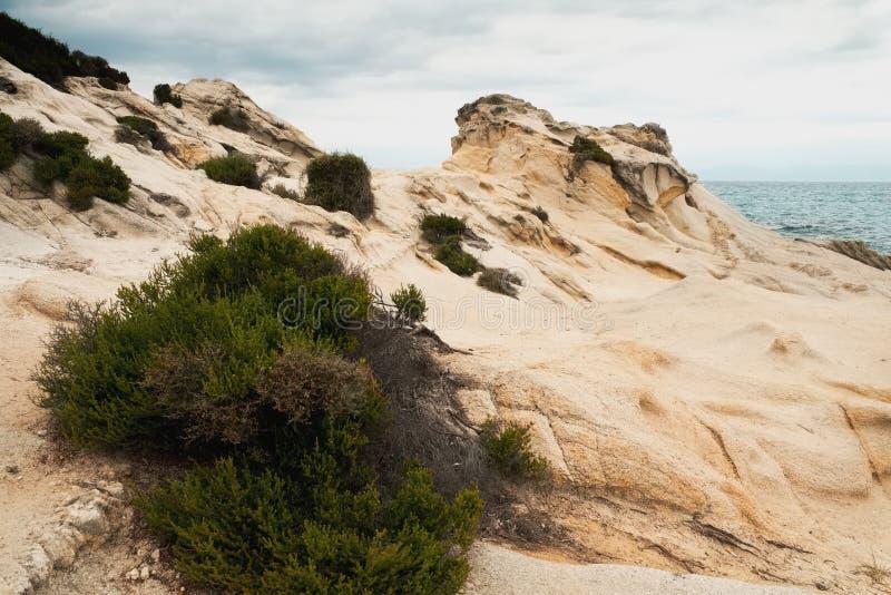 Skalisty nadmorski krajobraz obraz stock