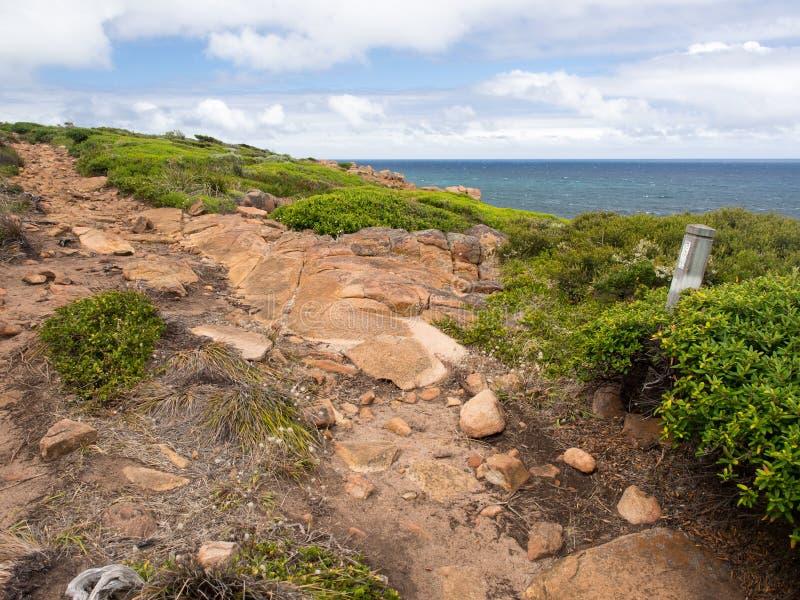 Skalisty przylądek przylądka ślad, zachodnia australia zdjęcia royalty free