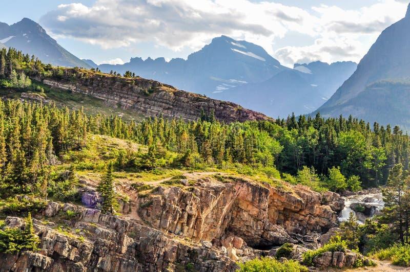 Skalisty teren górzysty lodowa park narodowy fotografia royalty free