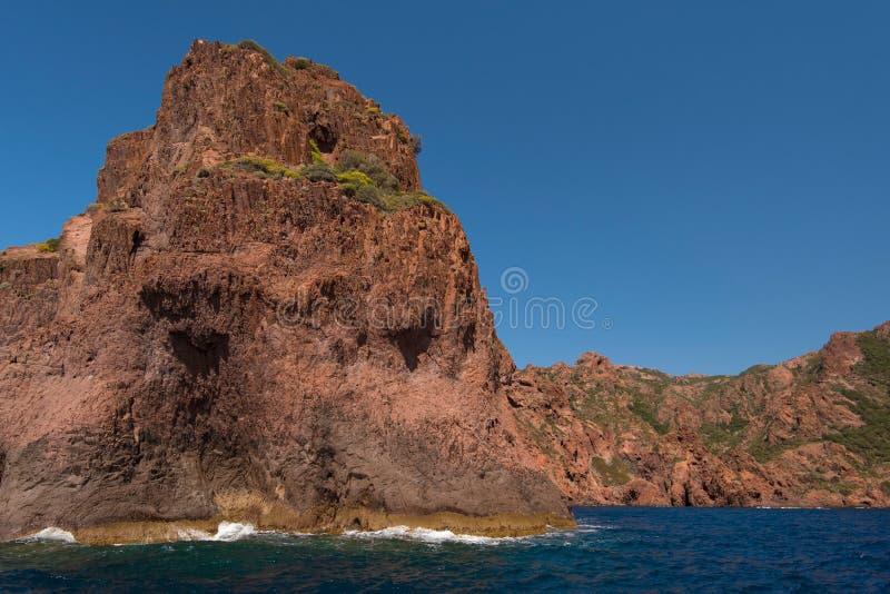 Skalisty wybrzeże naturalny park Scandola zdjęcie stock