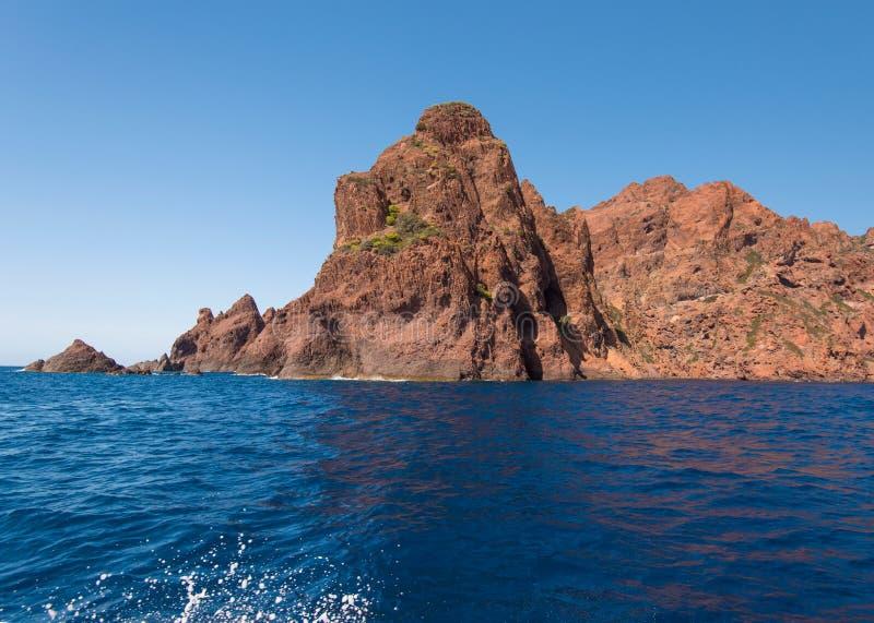 Skalisty wybrzeże naturalny park Scandola obrazy stock