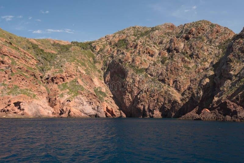Skalisty wybrzeże naturalny park Scandola zdjęcia stock