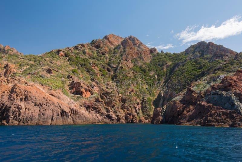 Skalisty wybrzeże naturalny park Scandola obrazy royalty free