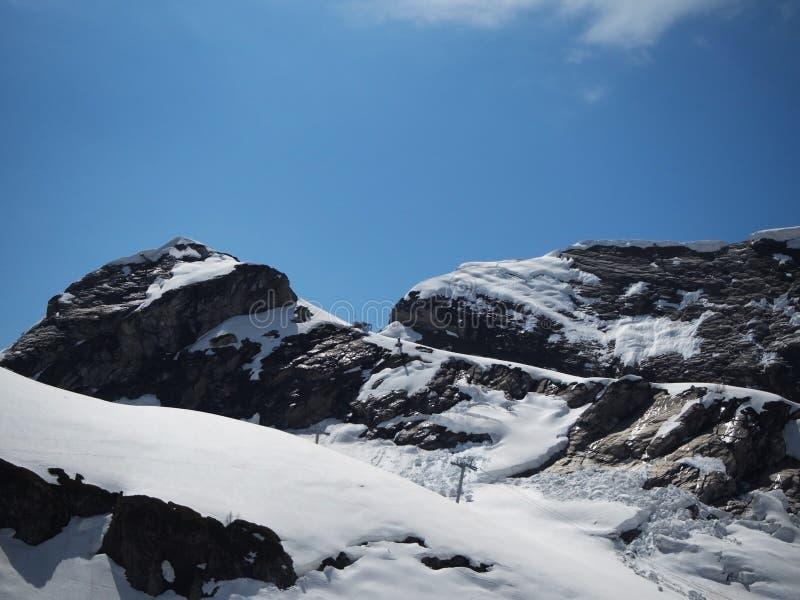 Skalistych g?r o?rodek narciarski Gorky Rosja Sochi zdjęcie royalty free