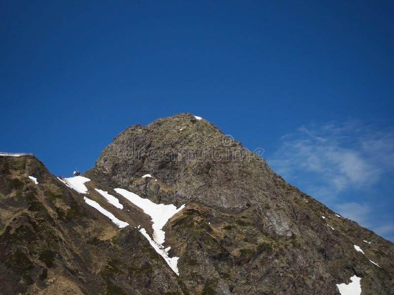 Skalistych g?r o?rodek narciarski Gorky Rosja Sochi zdjęcie stock