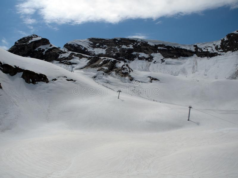 Skalistych g?r o?rodek narciarski Gorky Rosja Sochi fotografia stock