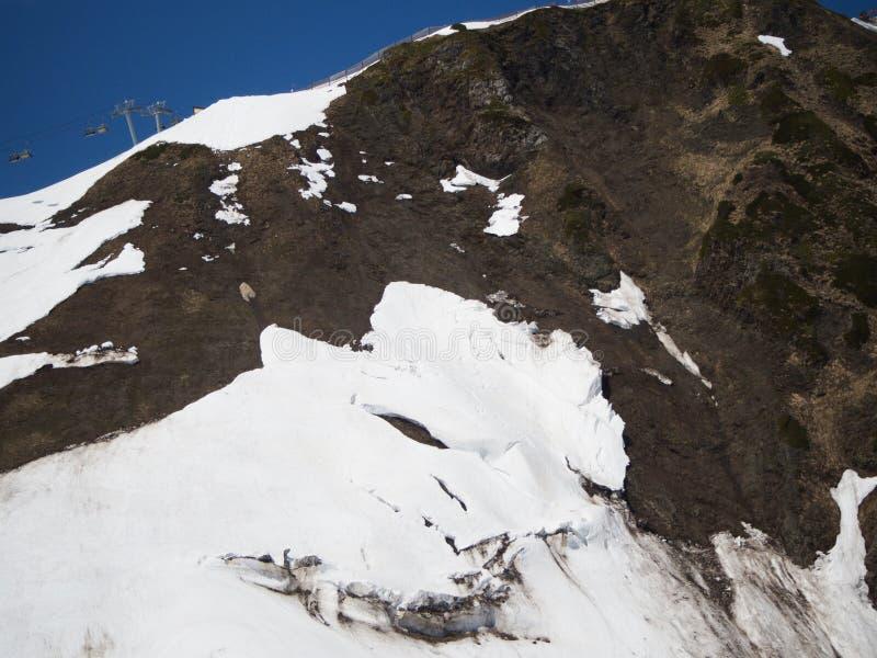 Skalistych g?r o?rodek narciarski Gorky Rosja Sochi fotografia royalty free