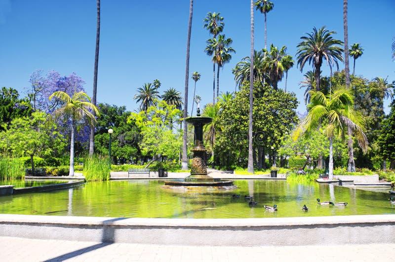 Skall Rogers Memorial Park i Beverly Hills California arkivfoton