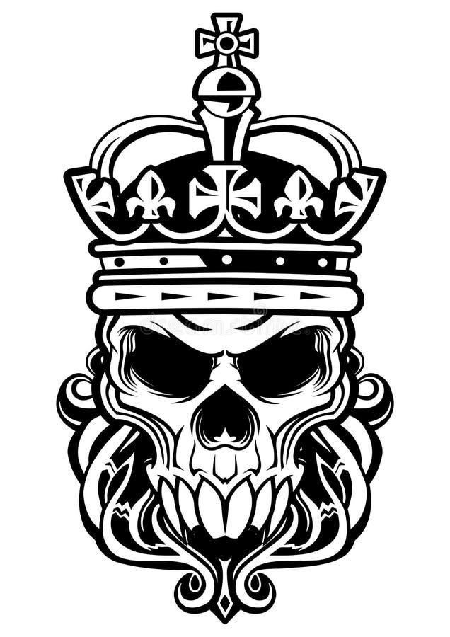 Skalle av konungen vektor illustrationer