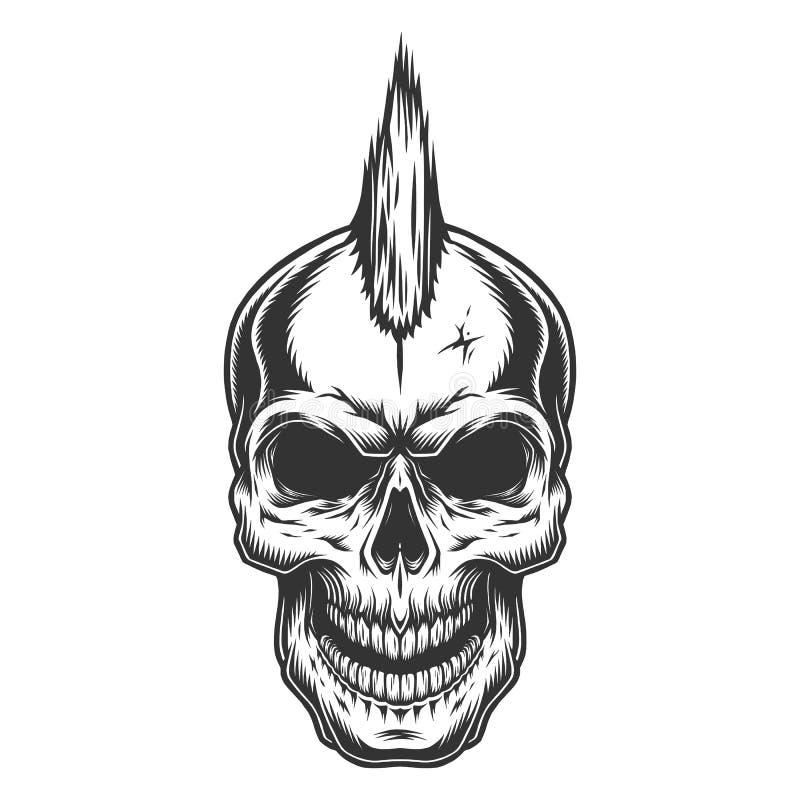 Skalle i tappningstule vektor illustrationer