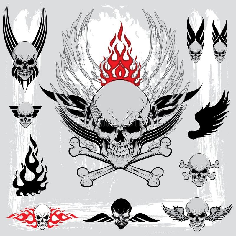 Skalledesignbeståndsdelar royaltyfri illustrationer