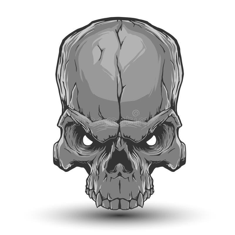 Skalleillustration vektor illustrationer