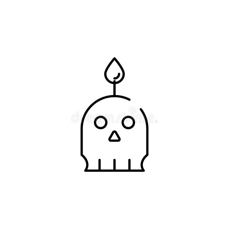 skallestearinljussymbol Beståndsdel av den halloween illustrationen Högvärdig kvalitets- symbol för grafisk design Tecken och sym vektor illustrationer