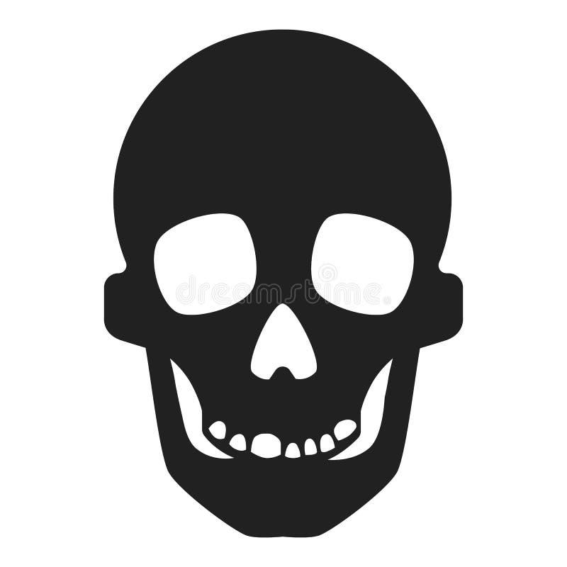 Skallesymbol, enkel stil stock illustrationer