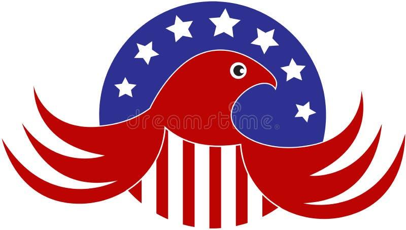 skallig örn för american vektor illustrationer