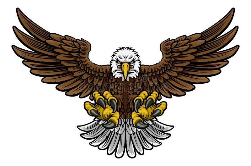 Skallig amerikan Eagle Mascot stock illustrationer