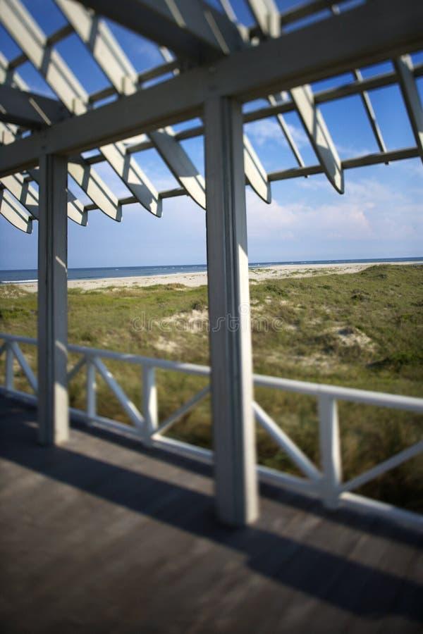 skallig beachfront däckshuvudö royaltyfria foton