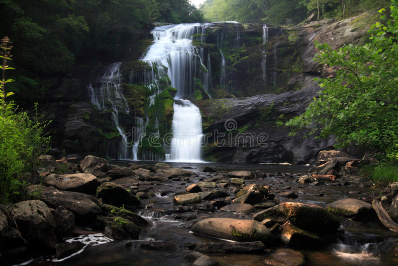 skallig flodvattenfall fotografering för bildbyråer