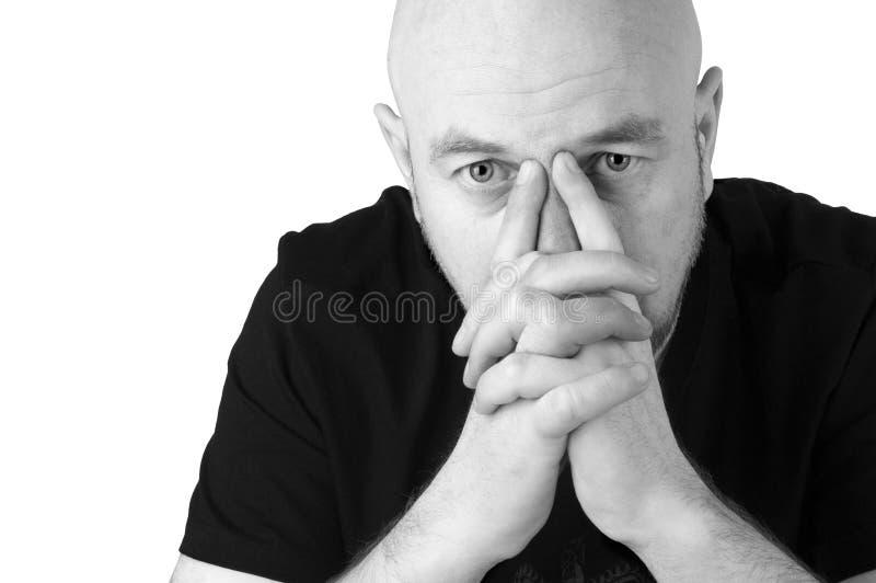 Skallig Man Fotografering för Bildbyråer