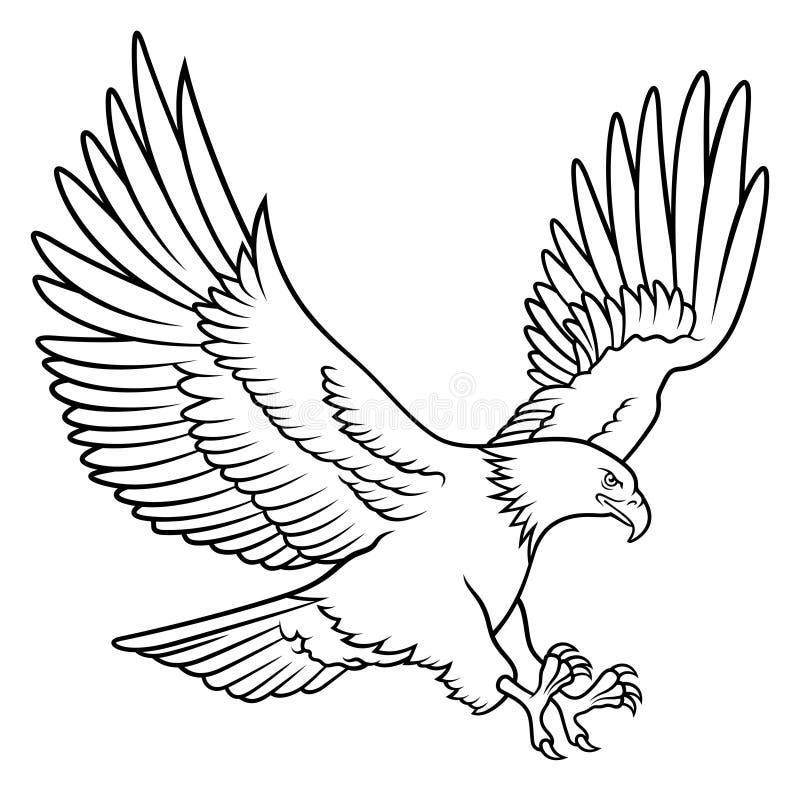 Skalliga Eagle 009 stock illustrationer