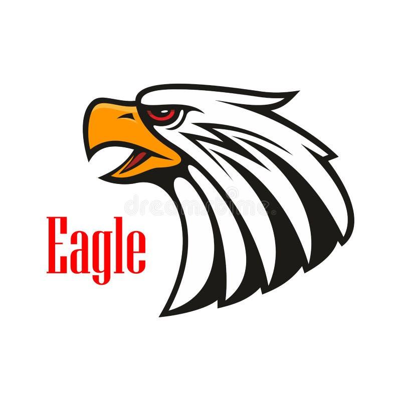 Skalliga Eagle gråt isolerad vektorwhite för 8 emblem eps stock illustrationer