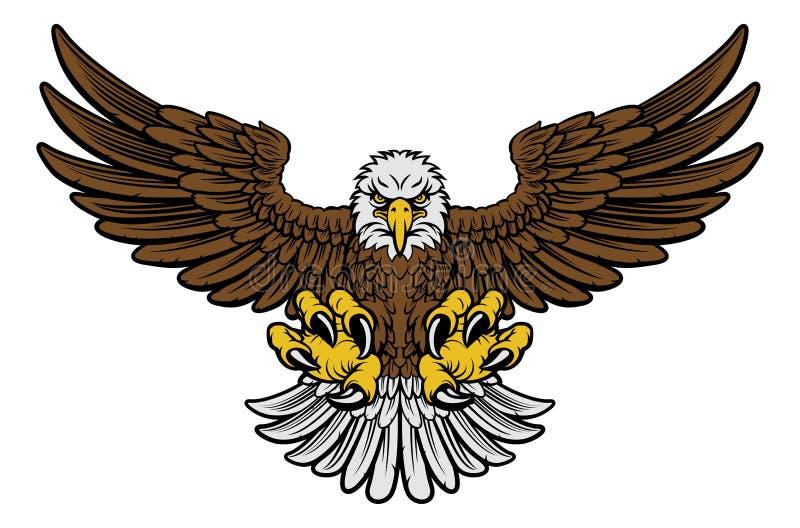 Skalliga Eagle Mascot vektor illustrationer