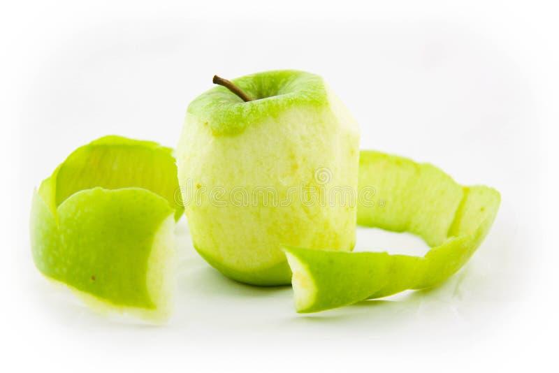Skalning av en Apple royaltyfria foton