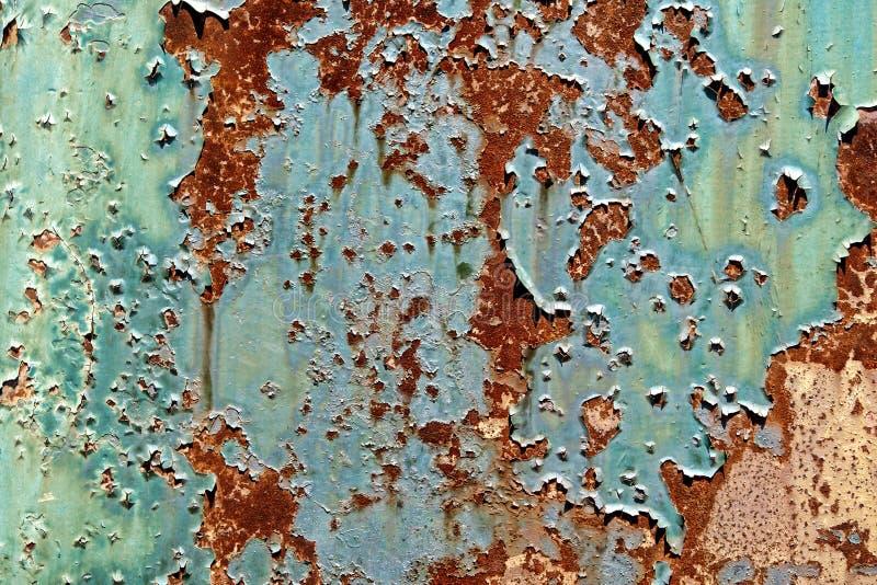 skalning för målarfärg för bakgrundsgrungemetall rostig gammal fotografering för bildbyråer