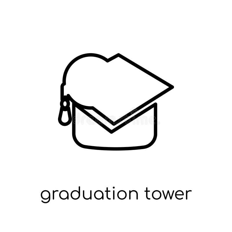 Skalowanie basztowa ikona Modny nowożytny płaski liniowy wektorowy Graduati ilustracji