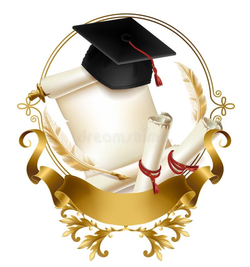 Skalowanie dyplom lub świadectwo realistyczny wektor royalty ilustracja