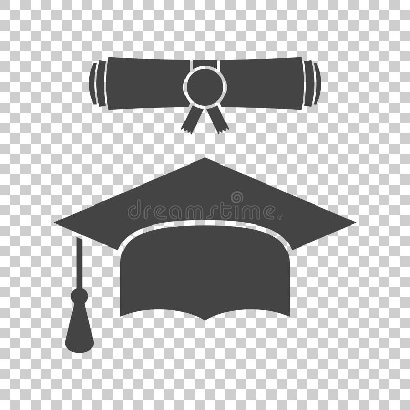 Skalowanie dyplomu i nakrętki ślimacznicy ikony wektorowa ilustracja w fl royalty ilustracja