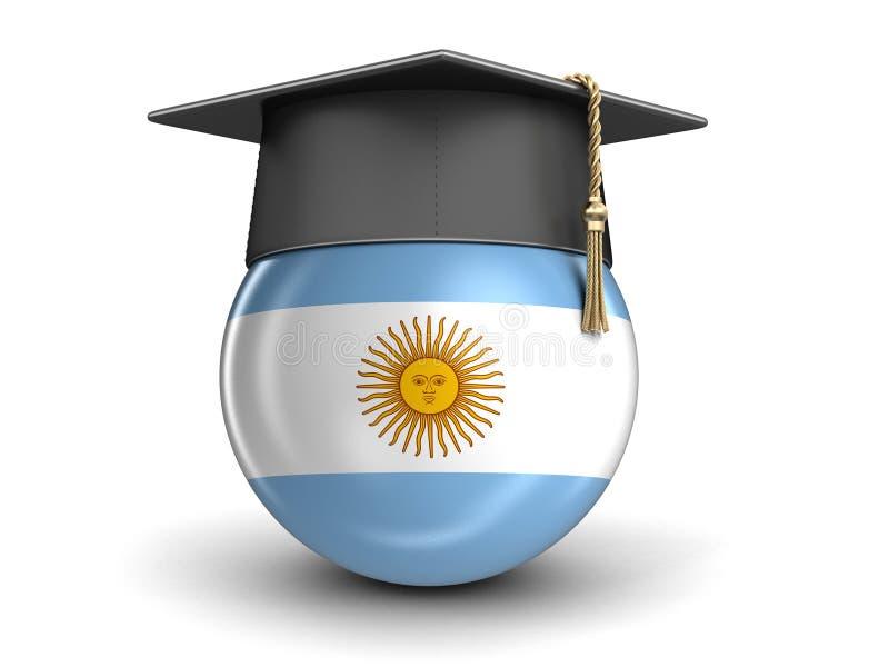 Skalowanie nakrętka i Argentyna flaga royalty ilustracja