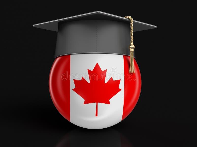 Skalowanie nakrętka i kanadyjczyk flaga ilustracji