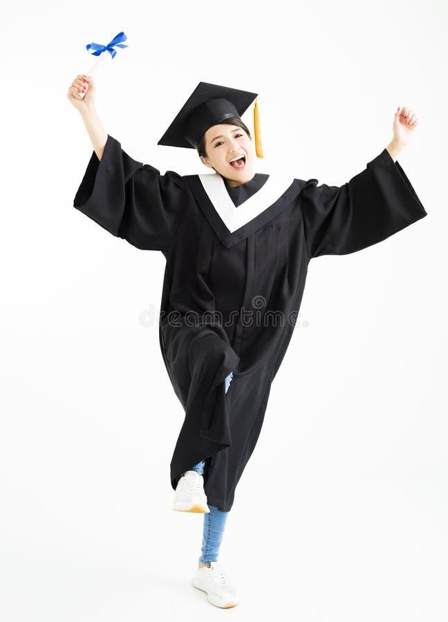 Skalowanie studencki taniec i seansu dyplom zdjęcie stock