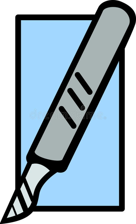 skalpel. royalty ilustracja