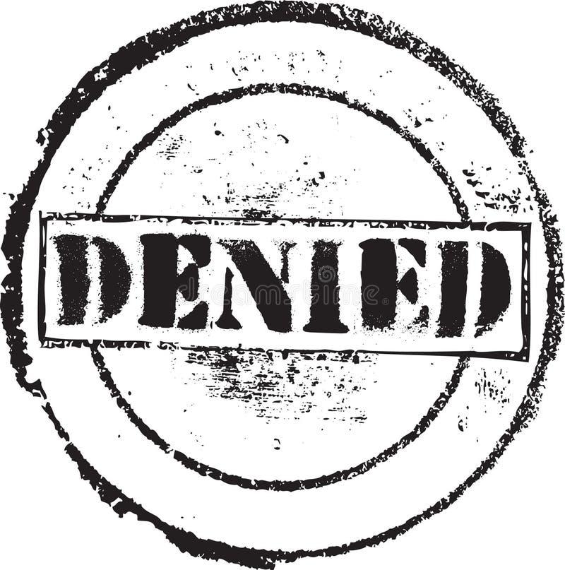 Skamp negado ilustração stock