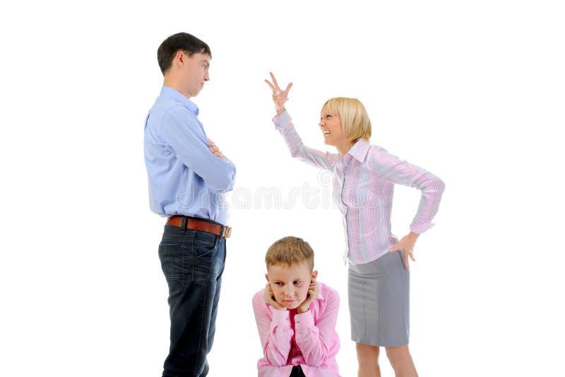 Skandal in der Familie stockfoto. Bild von bestrafung
